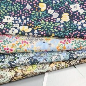 140x50 см 60s хлопок, поплин, ткань с цветочным принтом, одежда для детей, платье, мягкая ткань для украшения дома 150 г/м
