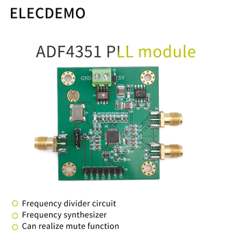 ADF4351 Module Phase-Locked Loop Module 35M-4.4GHz ADF4350 RF Signal Source Frequency Synthesizer Function demo Board 35m 4 4ghz phase locked loop pll rf signal source adf4351 generation module development board