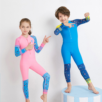 Wetsuit Kids Swimwear Elastic Diving Suit Long Sleeves Boys Girls Surfing Jumpsuit Quick-drying