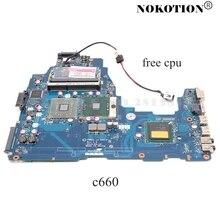 NOKOTION Mainboard Per TOSHIBA Satellite C660 K000111590 PWWAA LA 6841P scheda madre del computer portatile DDR3 GL40 cpu libero
