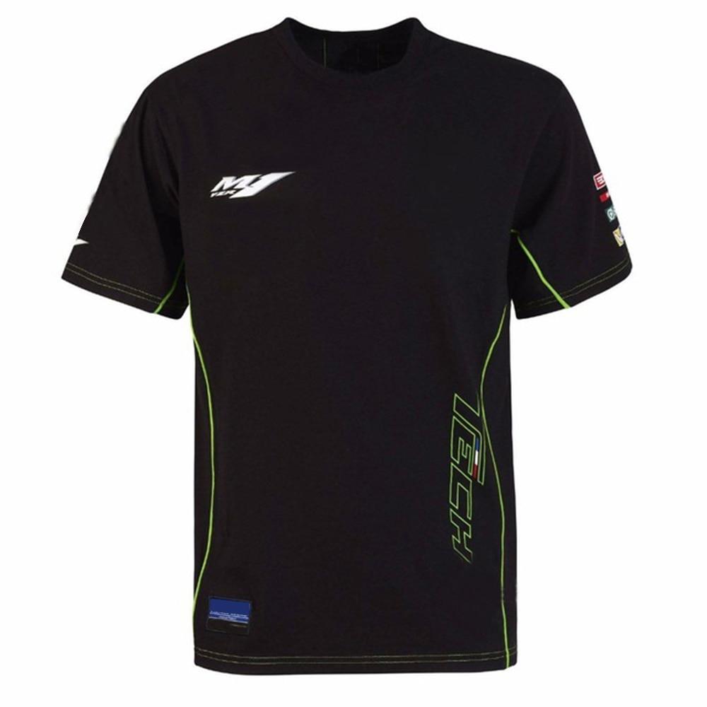 Free Shipping Moto Gp Tech 3 Racing For Yamaha Team M1 T Shirt  Sports Black Summer Tee