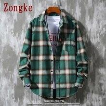 Zongke 2020 New Spring Long Sleeve Shirt