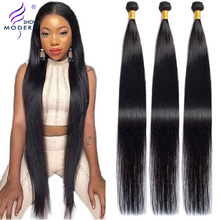 Modern Show Straight Hair Bundles Human Hair Weave 28 30Inch 1 3 4 Bundles Natural Brazilian Hair  Weave Bundles Non-remy