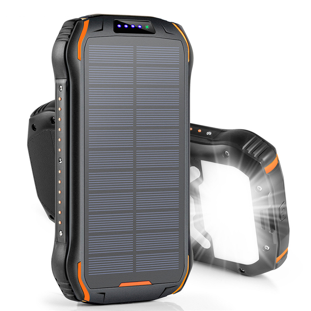 26800mAh Solar Power Bank with Strong LED Flashlight Powerbank For Xiaomi Mi 8 iPhone 11 Samsung Charger Solar Battery Poverbank 2
