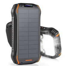 26800mAh Solar Power Bank Fast Qi Wireless Charger For iPhone Samsung Powerbank External Battery Portable Poverbank Flashlight