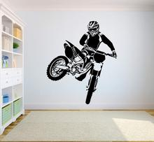 Motorcycle Vinyl Wall Stickers Sportsman Decal Motor Bike Design Poster Home Decoration Art AY1968