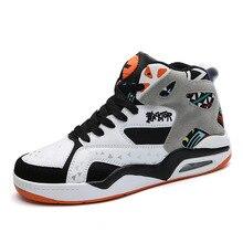 حذاء كرة السلة تنفس الرجال عالية أعلى الأحذية المضادة للانزلاق مقاومة للاهتراء كرة سلة للشباب حذاء كرة السلة