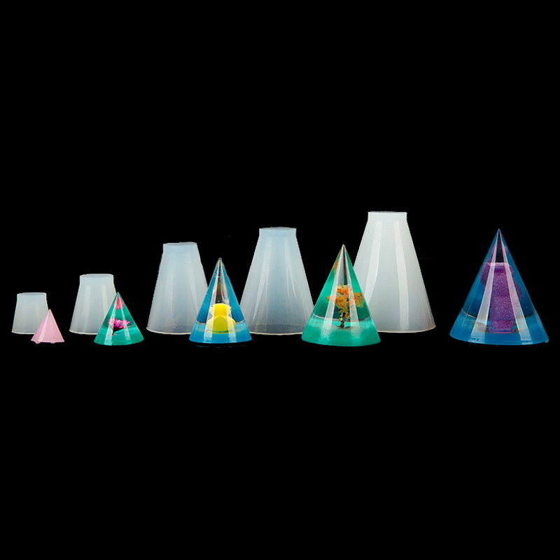DIY Silicone Jewelry Making Epoxy Resin Molds Handmade Resin Mould Cubic Triangular Cone Round Jewelry Making Tools