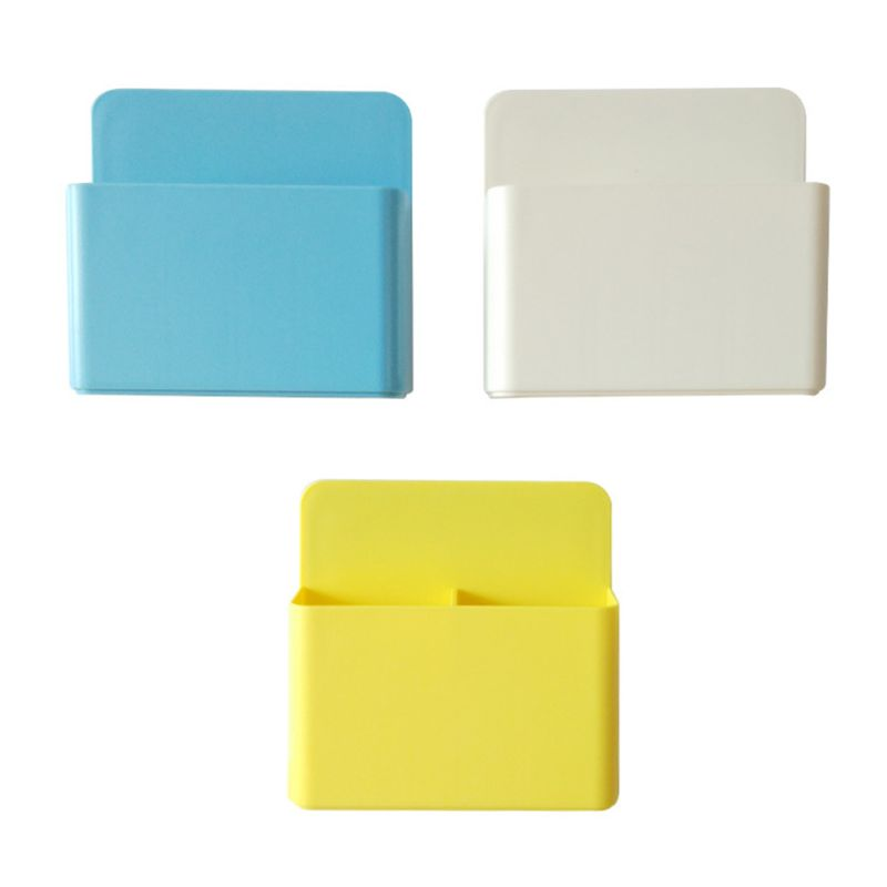 Fridge Magnet Magnetic Marker Pen Storage Box Grid Rubber Magnet Plastic Organizer For Classroom Pencil Case Kitchen Tool
