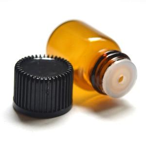 Image 3 - 10Pcs 2ml מיני אמבר זכוכית בקבוק עם פתח מפחית וכובע קטן בקבוקי שמן
