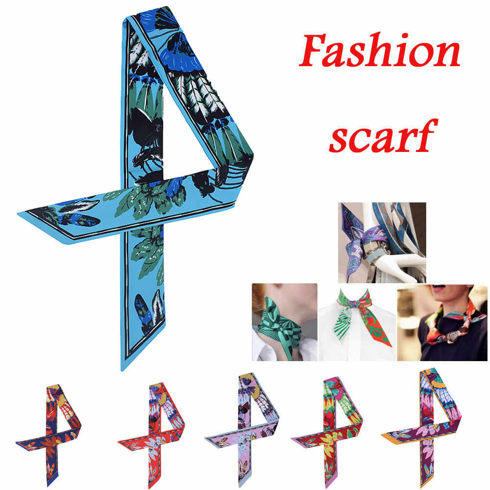 Fashion Ladies Ribbon Bag Hat Headband Tied Handle Small Ribbon Scarf Handle Bags Scarf Small Hair Band Headband Scarves & Wraps
