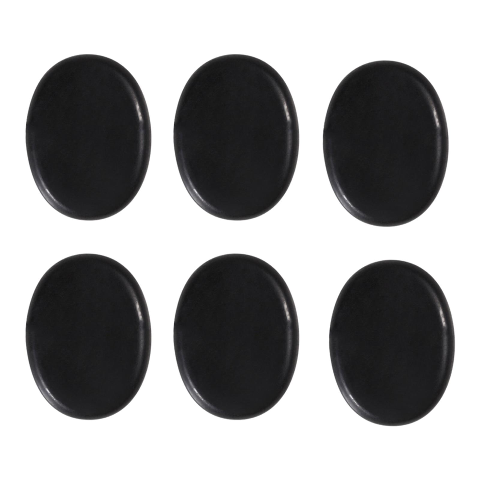 6 Pcs Hot Massage Stone Set Natural Basalt Warmer Rock Kit 4 X 3cm Easy To Repair