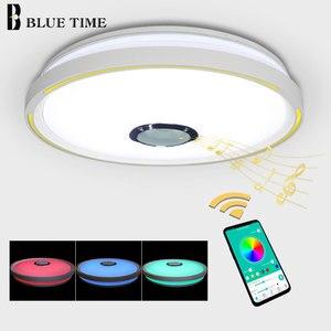 Image 4 - Müzik LED tavan Işıkları RGB APP kontrolü tavan lambası yatak odası 36W oturma odası ışık lampara de techo tavan ışık