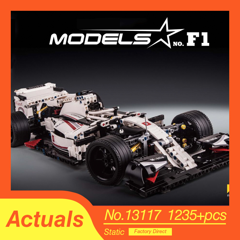 new City F1 Racing Car vehicle For Lepinly Technic Diy Sport Car Building Blocks bricks Education Toys For Children Boys 1
