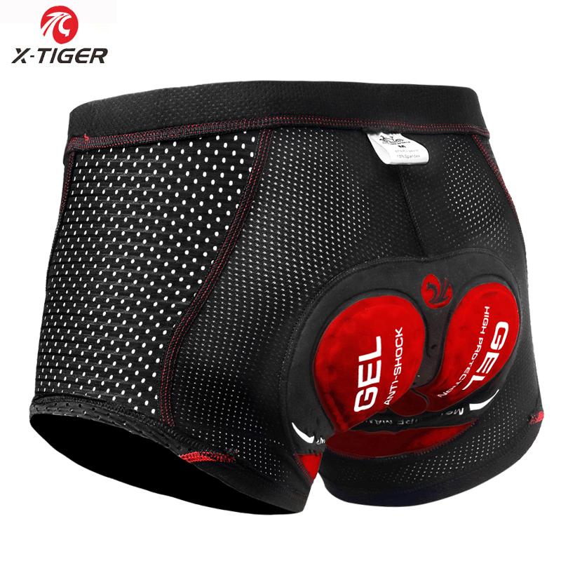 X-Tiger Upgrade Cycling Shorts Breathable Mesh Men's Cycling Underwear 5D Gel Pad Shockproof MTB Shorts Racing Bike Underwear