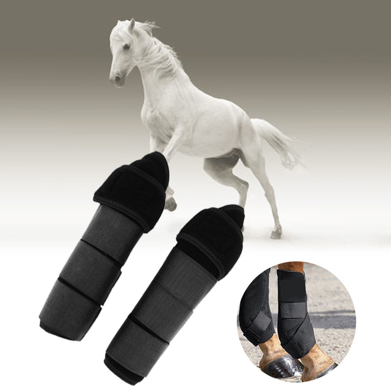 Adjustable 1 Pair Equestrian Tendon Boots Horse Splint Leg Boot Protection Support Wrap Equestrian Equipment Free Shipping