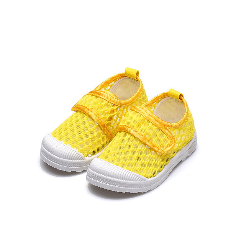Kids Shoes Children's Sneakers Fashion Soft Air Mesh Breathable Net Fabric Candy Color Toddlers Boys Girls Shoes Casual Sneakers