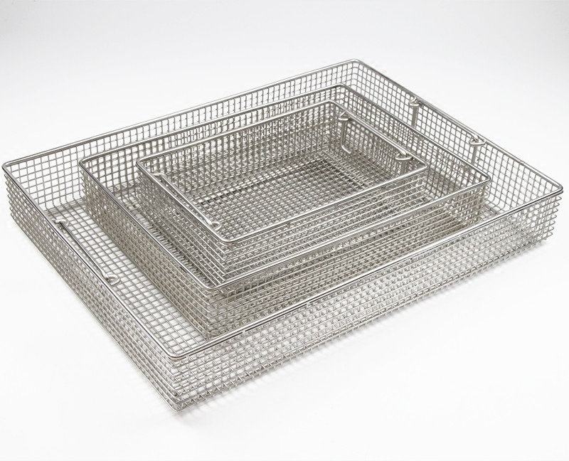 Basket Instrument 304 Stainless Steel Sterilization Tray Case Box For Surgical Tool Box Cassette