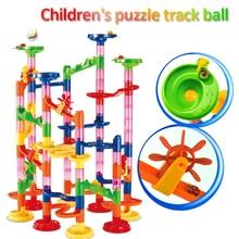 Ball-Roll-Toys Building-Blocks Maze Track Marble Construction-Race DIY for Boy Girls