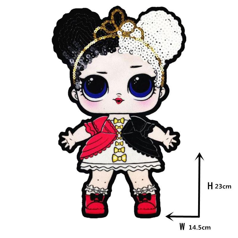 Мультяшные нашивки женские модные куклы лол для девочек Милая Модная Кукла-мальчик вышивка на одежду ручная работа украшение одежды Блестки Ткань - Цвет: WW-23