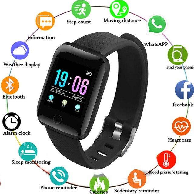 スマートウォッチ 116 プラスカラー画面心拍数リストバン腕時計スマートバンド防水スマートウォッチandroid ios