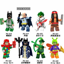 PG8110 Building Blocks Marvel Super Heroes Killer Moth Crazy Quilt Cacique Green Arrow Alfred Master Batman Children Toys DIY
