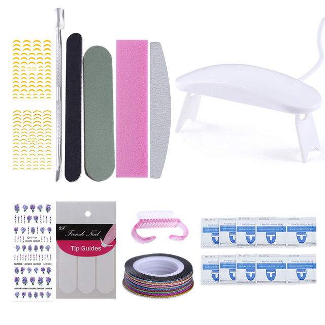 LILYCUTE Nail Full Set UV LED Lamp Dryer With Nail Gel Polish Kit