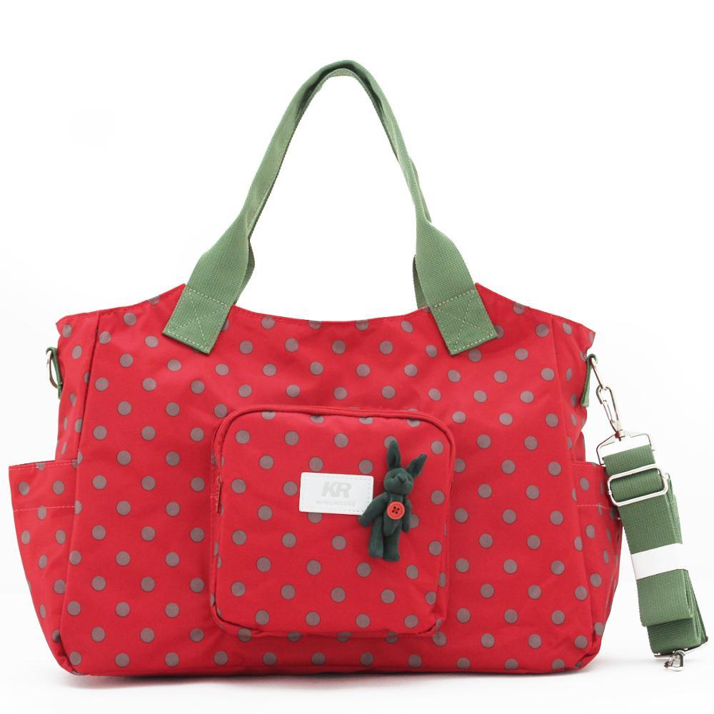 Diaper Bag Backpack Maternal Big Baby Travel Handbag Mammy  The New Korean version Wave point waterproof One shoulder Crossbody