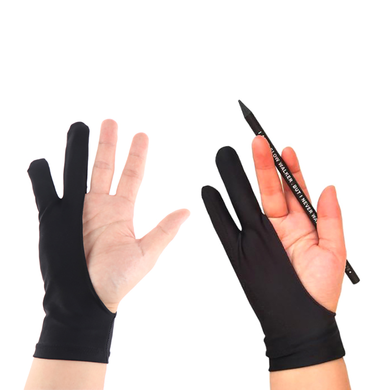 2 pcs Finger Anti-fouling Gloves For Artist Drawing & Pen Graphic Tablet Pad