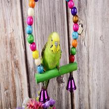 3 шт./лот аксессуары для птиц клетка для птиц Качели Попугай звонок на подставке perchoir pour perroquet для дома птиц стоящая игрушка