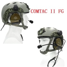 Tactical Electronic Shooting Headset COMTAC II Tactical Helmet Hunting Noise Cancelling Headset For Airsoft Intercom Headset FG