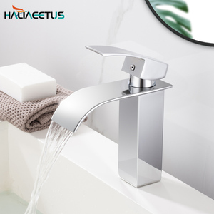 Bathroom Faucets Basin Brass Faucet Hot&Cold Water Mixer Taps Chrome Water Mixer(China)