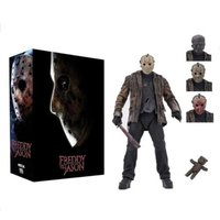 2019 New Type Original NECA Freddy Jason FVJ Ultimate Jason Voorhees Action Figure Colletable Model Toy Gift