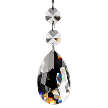 20 шт хрустальная люстра, прозрачная капля хрустальная люстра подвески части бусины, Висячие кристаллы для люстры(50 мм, прозрачный