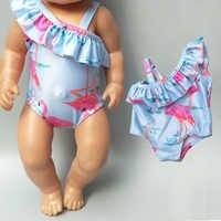 Boneca do bebê roupas de verão para 43cm bebê nascido boneca nadar roupas 18 polegada boneca biquíni