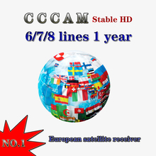 2020 stable Cccams 6/7/8 lines 1.5 Year for Europe ccam Spai