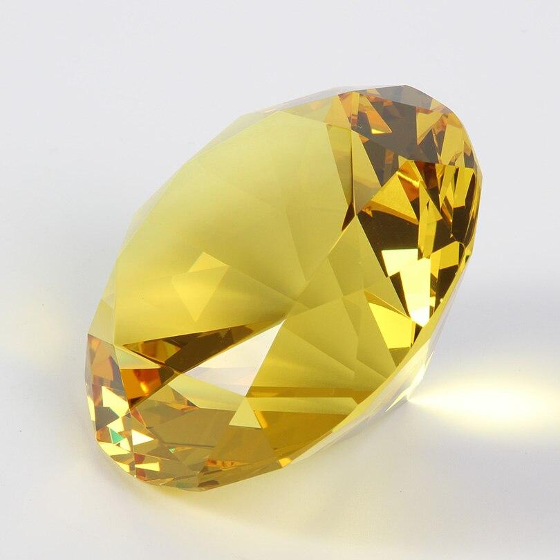 Цветные вечерние украшения из большого стекла с бриллиантами, большие бриллианты, романтическое предложение, украшения для дома, вечерние рождественские подарки - Цвет: Yellow