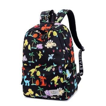 Primary School Bags Elementary Backpack for Girls Boys Cartoon Dinosaur Children Orthopedic Bookbag Mochila Infantil Grade 1-5 delune children bags for girls boys backpacks cartoon bear design mochila infantil orthopedic backpack in school bags grade 1 5