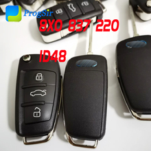 3 Button 315MHz 434 MHz Keyless Go Proximity Flip Remote Control for Audi A1 Q3 with ID48 Chip With FCCID: 8X0 837 220