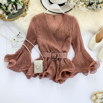 Elegant Blouse Long Sleeve