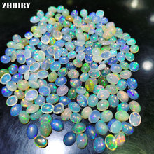 ZHHIRY Natural Opal Gem Stone Colorful Flashing 5*7mm From Africa Fine Jewelry
