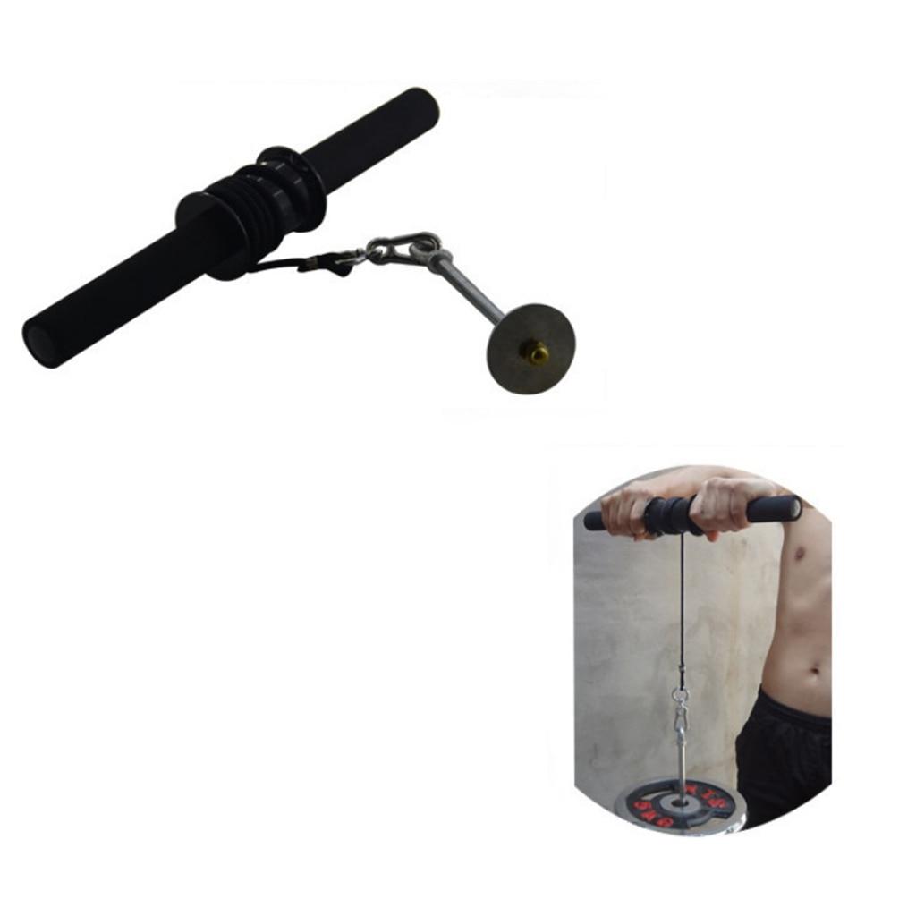 Home Wrist Roller Forearm Exerciser Strengthener Anti Slip Arm Strength Trainer Home Gym Fitness Workout Equipment