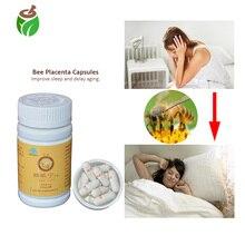 3 бутылки против бессонницы лечение бессонницы китайские травяные пчелиная плацента экстракт капсулы таблетки для улучшения сна против старения