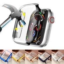 Capa para apple assista caso 44mm 40mm iwatch 42mm 38mm pc protetor de tela pára acessórios para apple assistir série 6 5 4 3 2 se