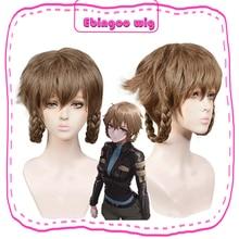 Ebingoo Steins Gate 0 John Titor Hashida Suzu Amane Suzuha короткий коричневый синтетический парик для косплея Плетеный парик с челкой для костюма