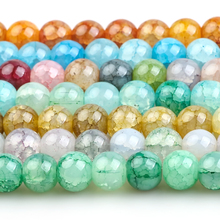 Jewelry DIY Beads Glass Round Synthetic Opal Making-Accessories Green-Stone 8mm Crystal
