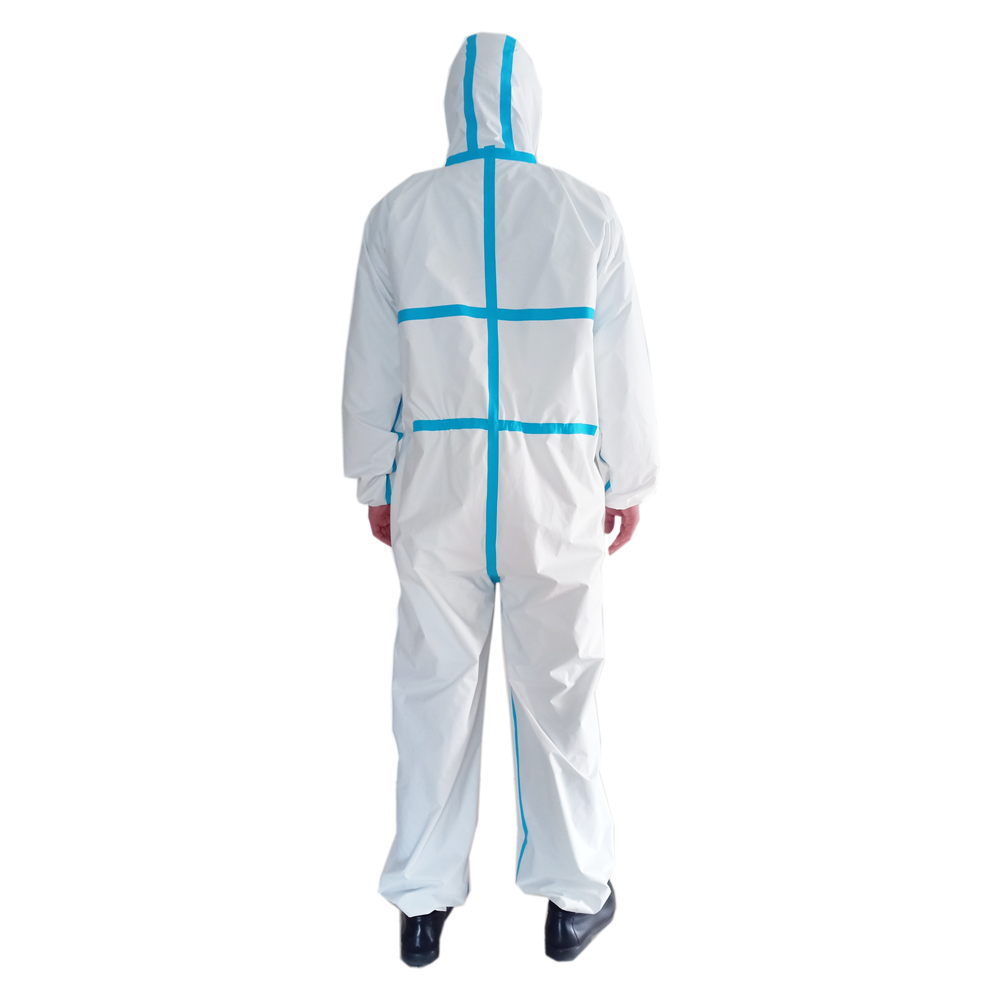Coverall Disposable Anti Epidemic and Antibacterial Isolation Suit for Prevention from Viruses and Bacteria 2