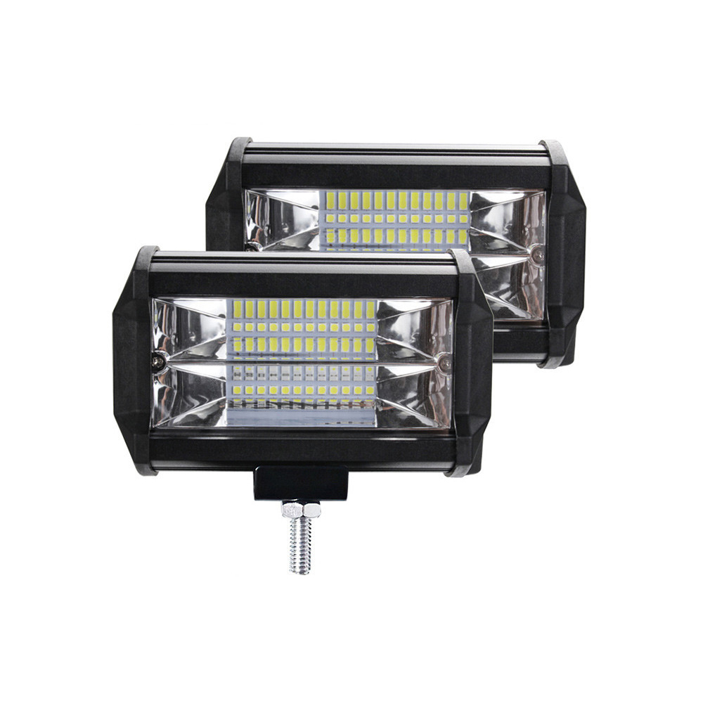 Car led lights 5 inch double row long strip off-road roof truck work light 72W 8000Lm