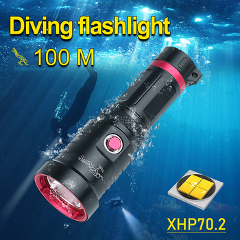 IPX8 Professional LED Diving Flashlight XHP70.2 Diving Torch Underwater Lamp XHP70 Waterproof Scuba Flashlight Diving Work Light waterproof scuba diving 18650 flashlight 14 ledtorch light lamp for diving underwater photographing video