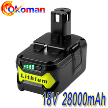 High Capacity New 18V 28000mAh Li-Ion For Ryobi Hot P108 RB18L40 Rechargeable Battery Pack Power Tool Battery Ryobi ONE+Hot sell znter battery for ryobi 18v 6000mah p108 rb18l40 lithium ion rechargeable battery pack power tools battery ryobi one